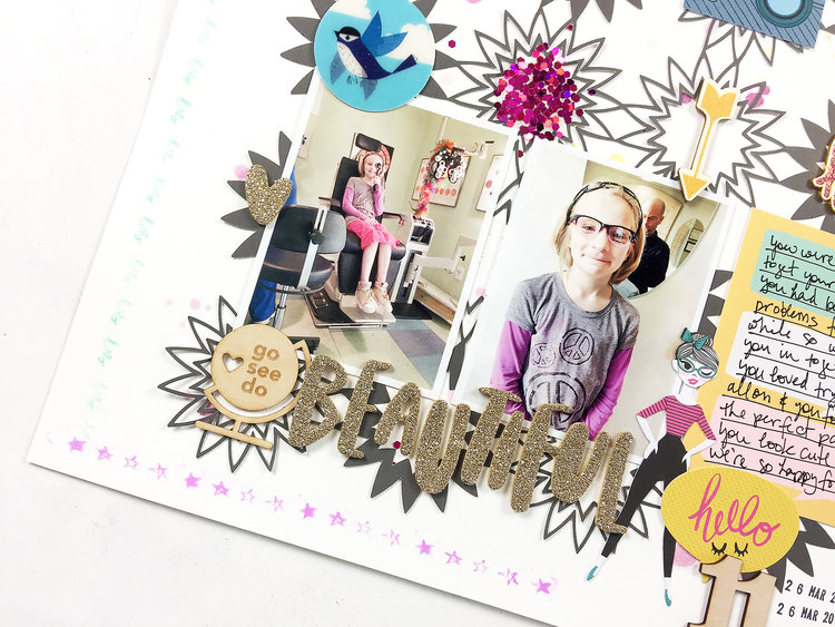 Larkindesign Freebie Friday | Beautiful Layout ft. Starburst Cut File!!!