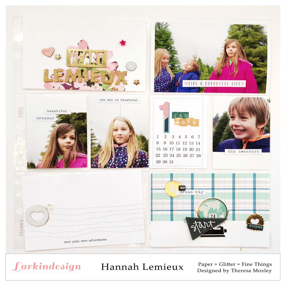 Larkindesign Creative Team Hannah Lemieux | 2018 Project Life