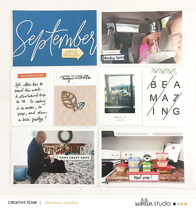 Project Life 2017 Week 35 | Using Sahlin Studio Monthly Cards & Like A Boss!!!