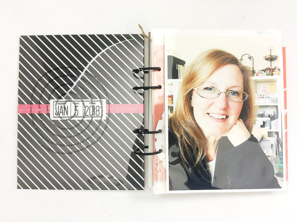 Awesome Ladies Project\Book of Me January Layout