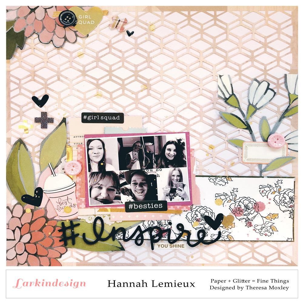 Larkindesign Creative Team | Hannah Lemieux ft. Diamonds Cut File!!!