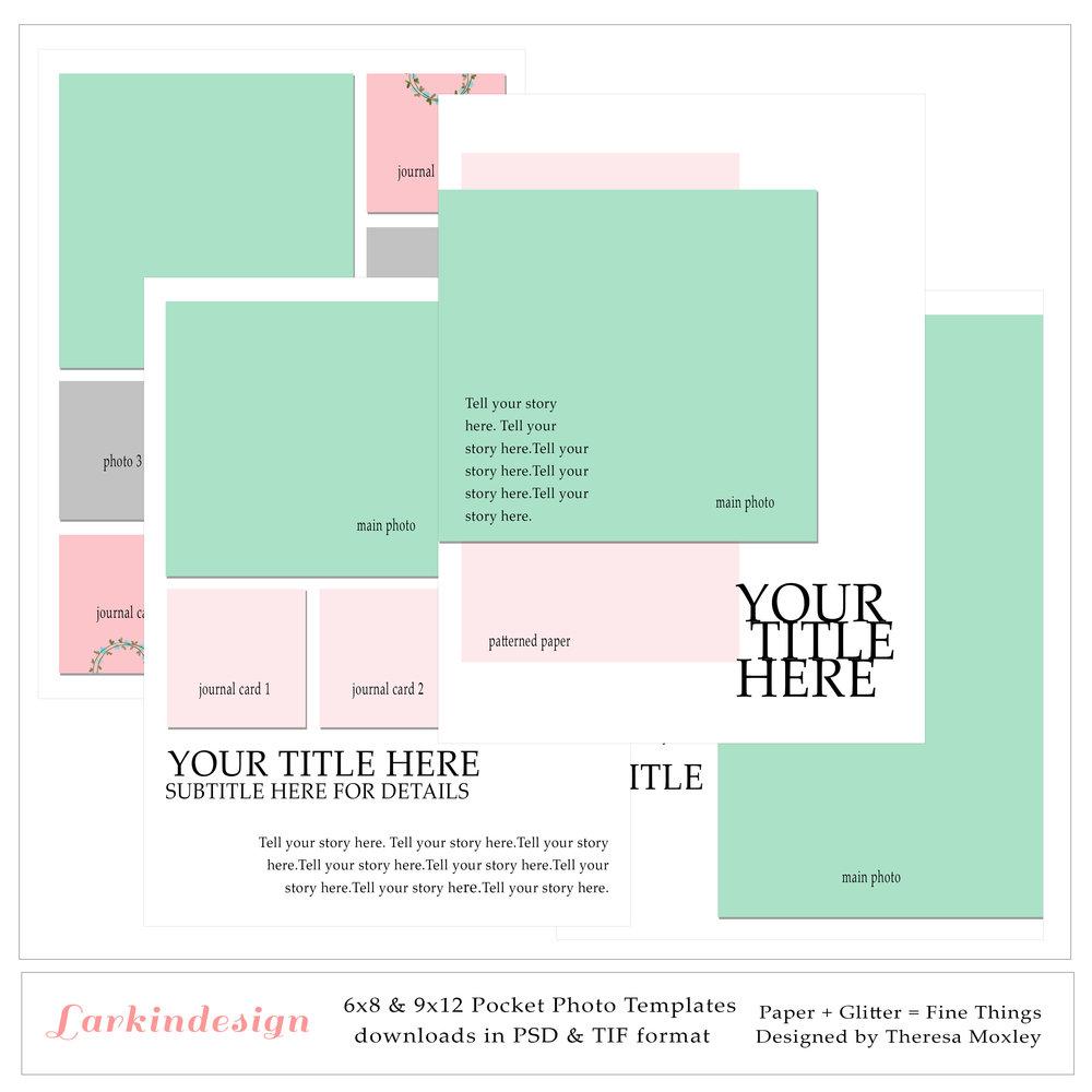 Larkindesign Pocket Photo Templates