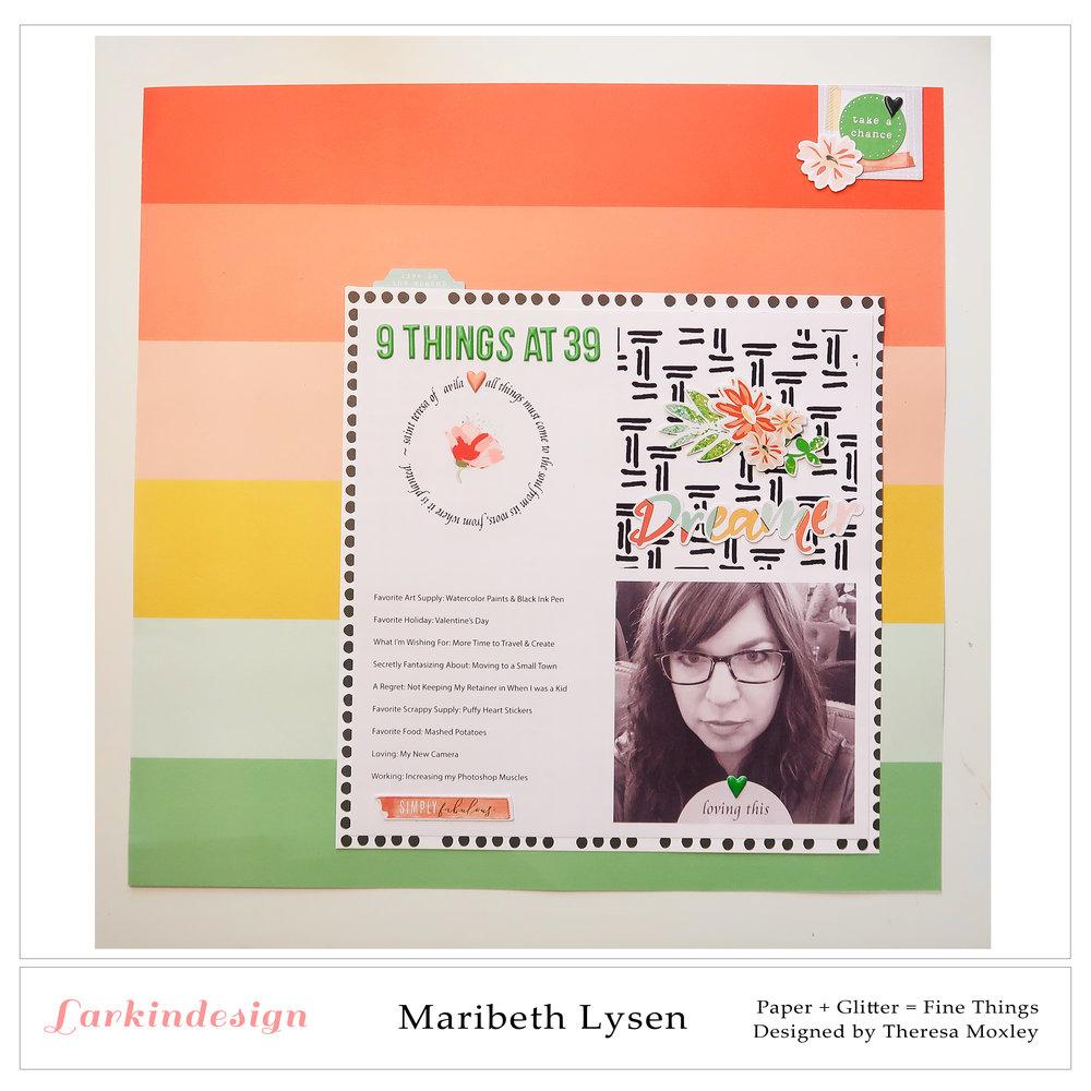Larkindesign Creative Team Maribeth Lysen | March Layout ft. Grow Deeper Roots!