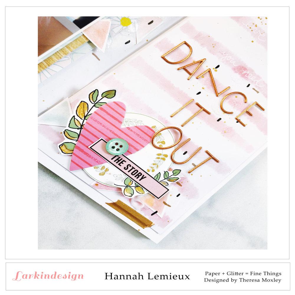 Larkindesign Creative Team Hannah Lemieux | February Project Life Layout