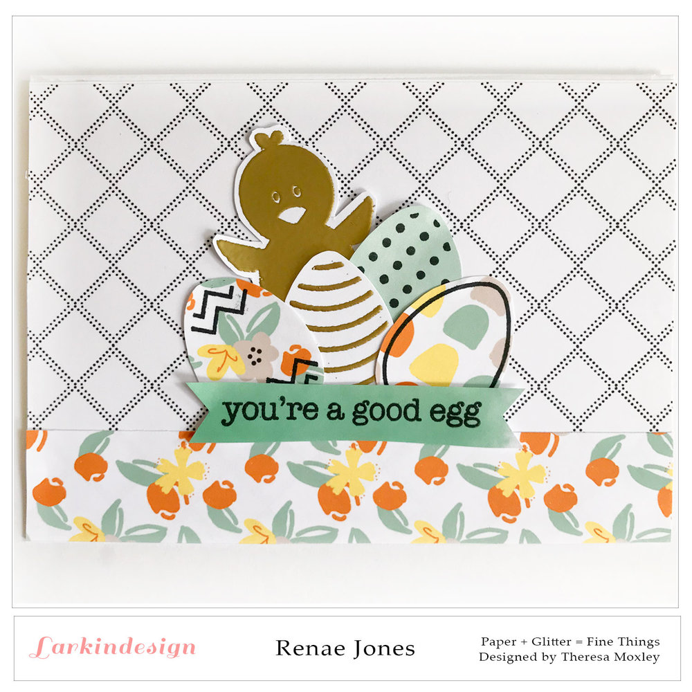 This collection is perfect for Easter! I used a Studio Calico stamp to make this card.