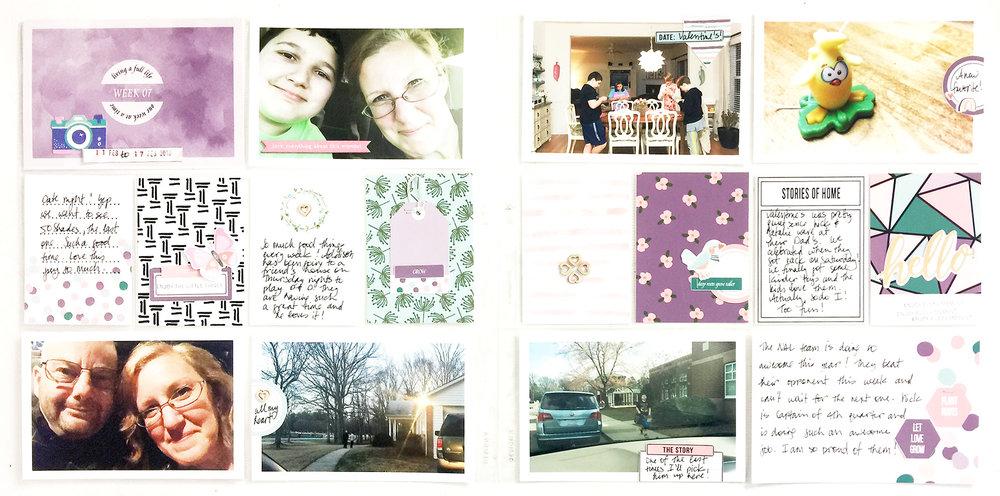 Larkindesign 2018 Project Life Week 07 ft. Grow Deeper Roots