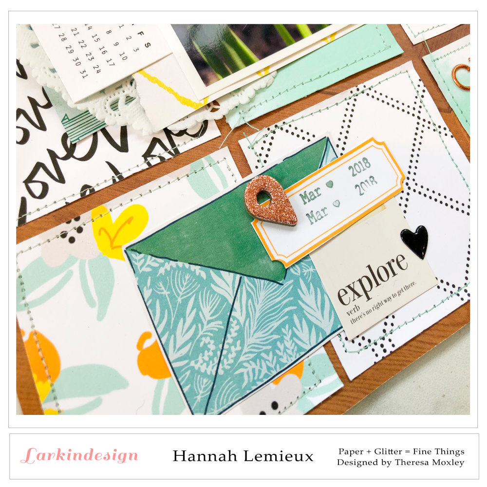 Larkindesign Creative Team Hannah Lemieux | April Layout ft. Sweet Chicks!!
