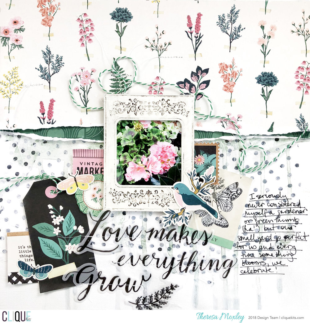 Clique Kits April Layout Share ft. April Winter Park Kit!!!