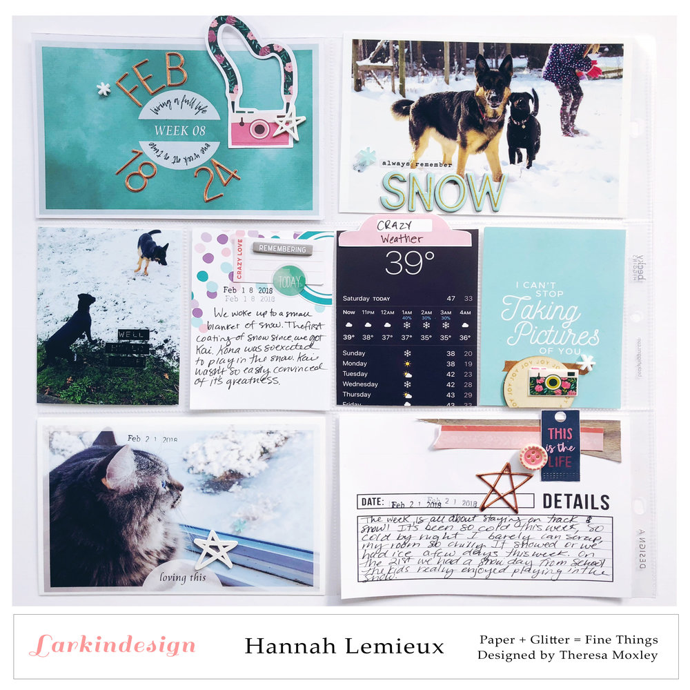 Larkindesign Photo Templates | Creative Team Member Hannah Lemieux