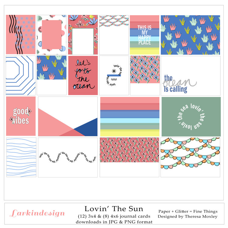 Lovin' the Sun Digital Journal Cards