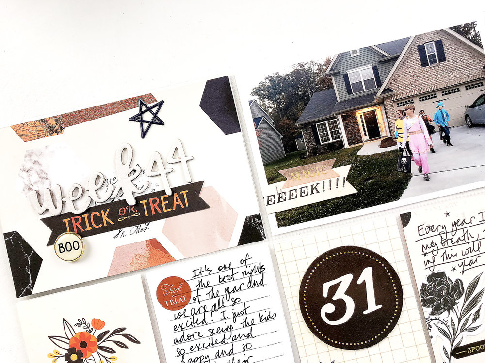 Larkindesign Project Life 2017 Week 44 | A Halloween Layout!!!!