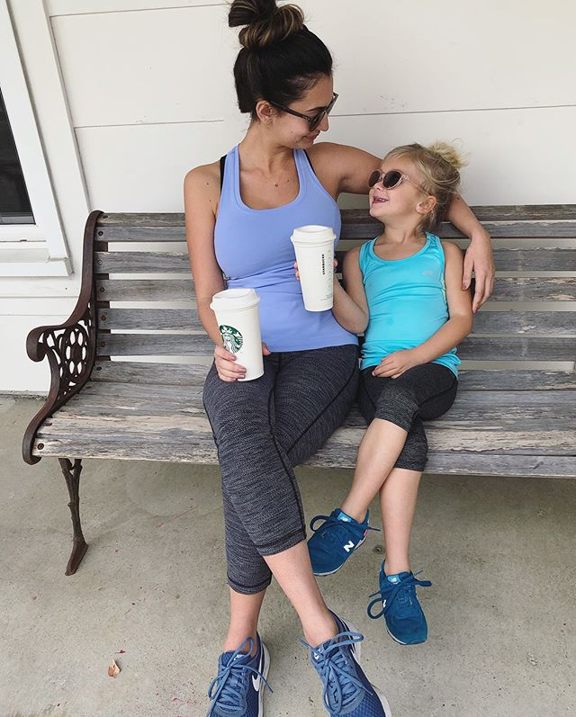 Gym, Coffee or Bust 👊🏻 Last weekend with my mini me before we hit the road