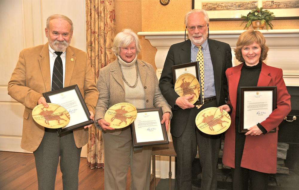 From left: Bob Sinclair, Su Webb, Walter Nicklin, Lori Kimball