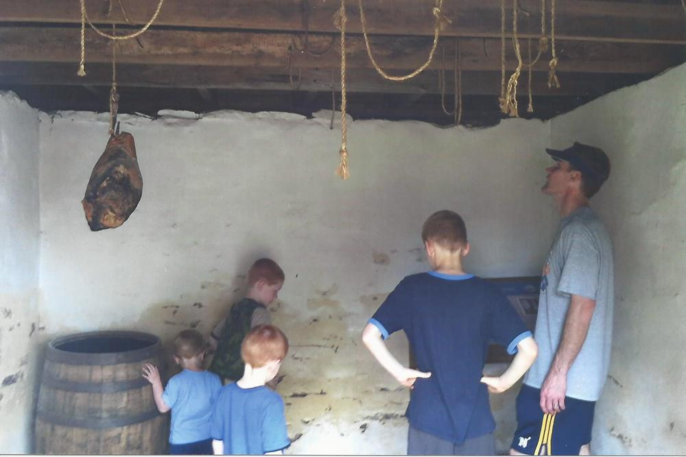 The Healey family explores slave quarters at Ben Lomond near Manassas, western Prince William County