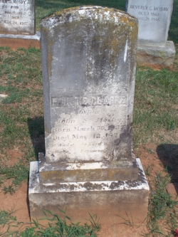 In the family plot in Warrenton Virginia: the grave of John Mosby's wife, Pauline, above, and Mosby, below.