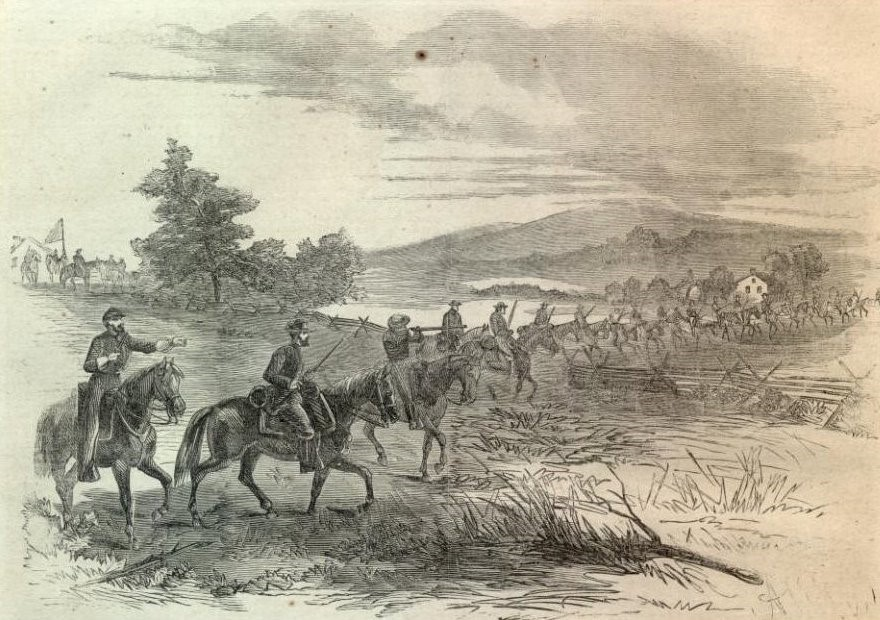 Waud sketch of Union cavalry during Loudoun Valley Campaign.jpg