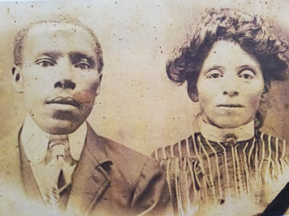Willisville residents Adolphus Hampton (1860-1912) and his wife Mary Florence Jackson Hampton (1869-1929)