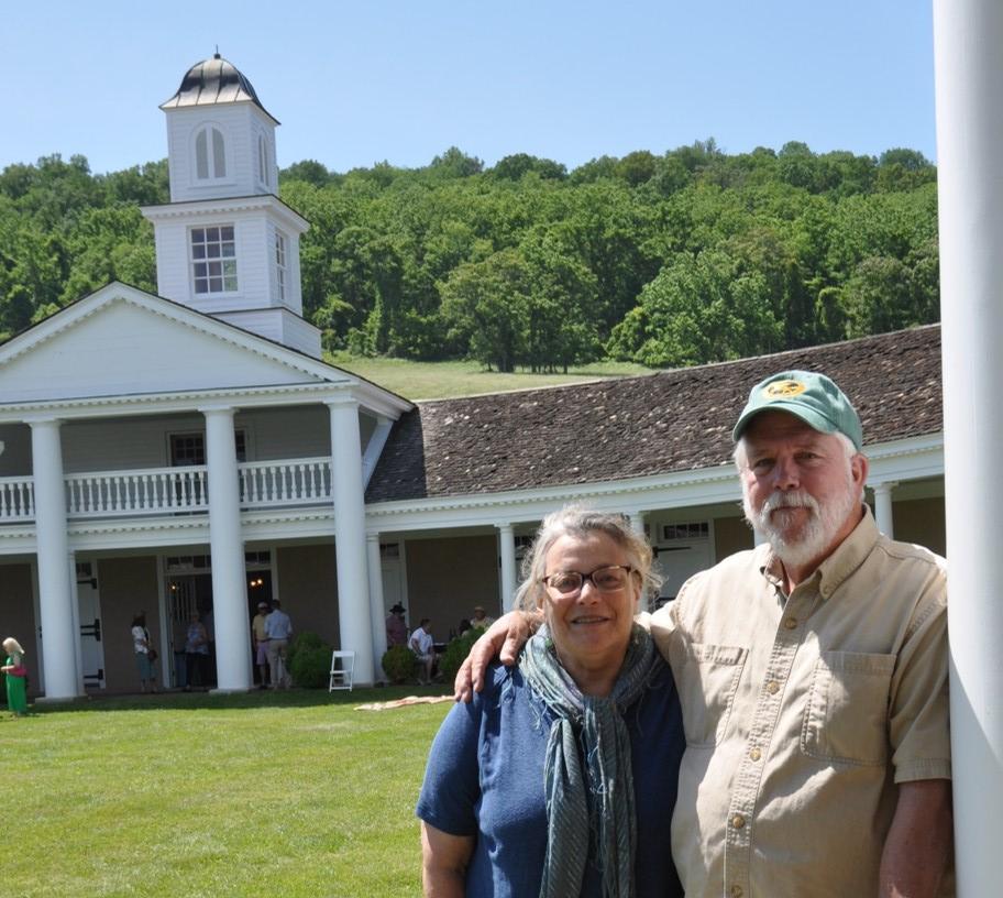 Barbara Bearman and Russ Beal, consummate Mosby Heritage Area Association volunteers