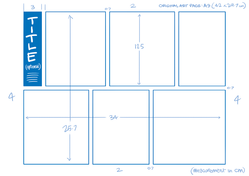 Half Page Comic Strip Template By Anton Emdin