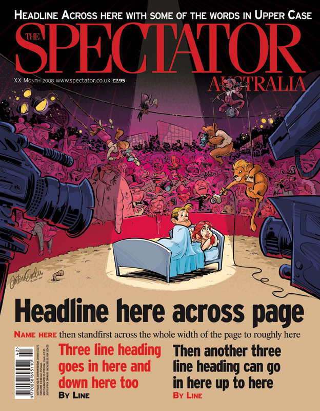 'Private Eyes' cover art for The Spectator