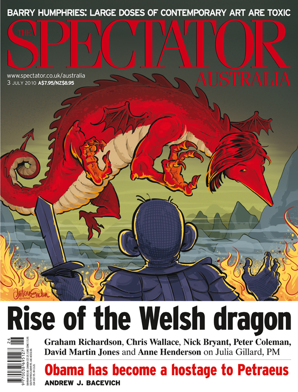 'Rise of the Welsh Dragon' cover art for The Spectator Australia
