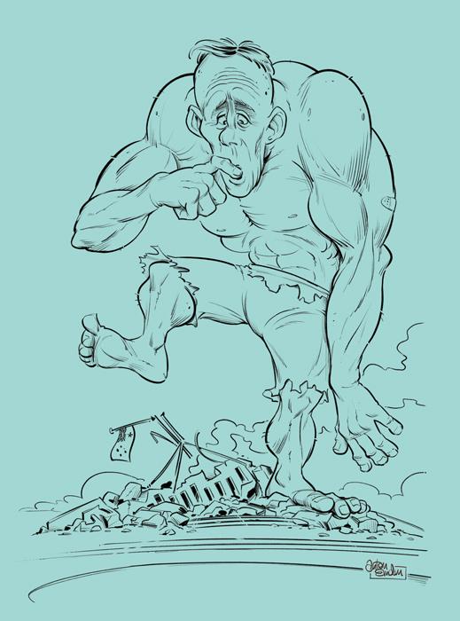 Inks for 'Greens Hulk' magazine cover