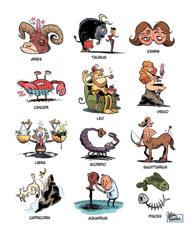 Zodiac signs by Anton Emdin