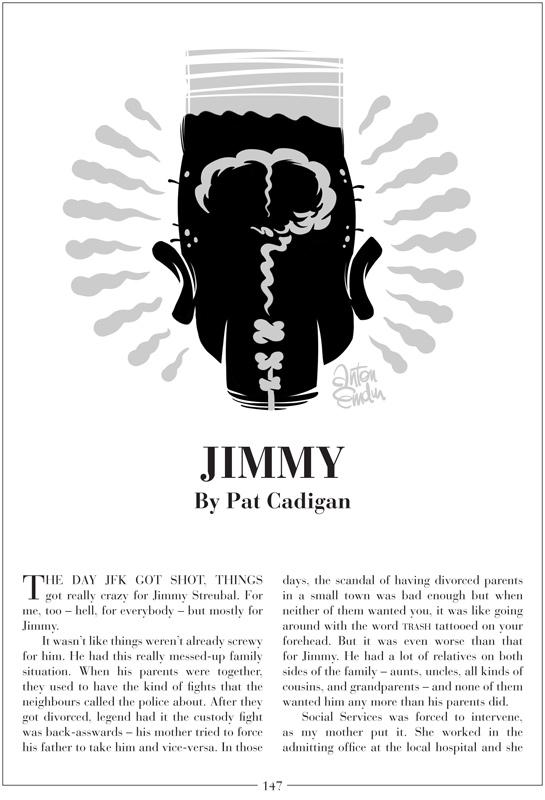 'Jimmy' by Pat Cadigan, illustration by Anton Emdin