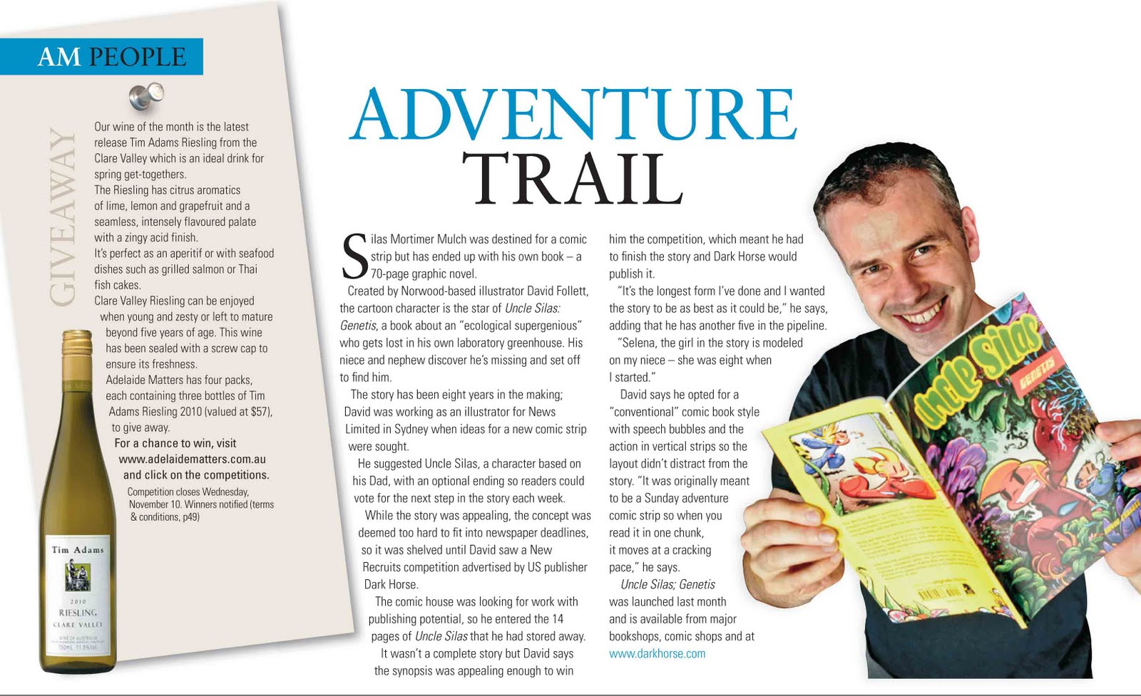 Dave Follett interview in Adelaide Matters magazine