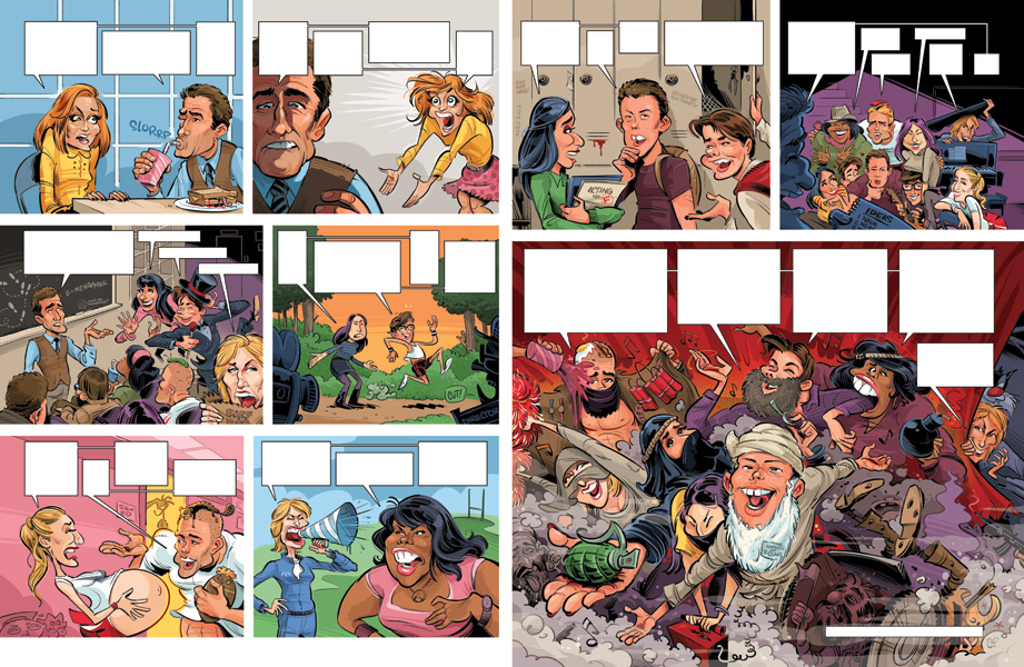 MAD Glee parody pages 3 - 4 (with speech bubbles)