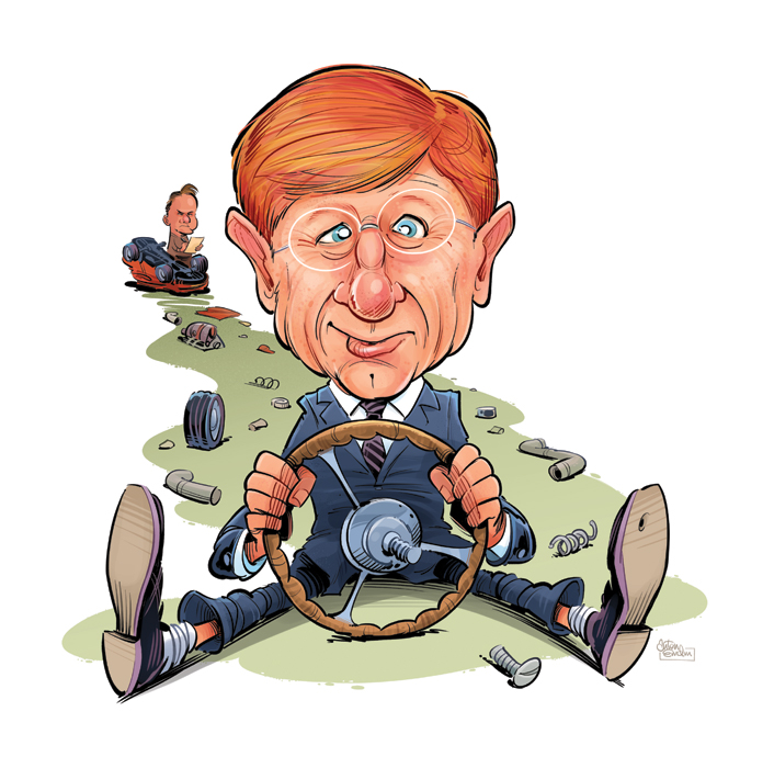 Kerry O'Brien finished art for The Spectator by Anton Emdin