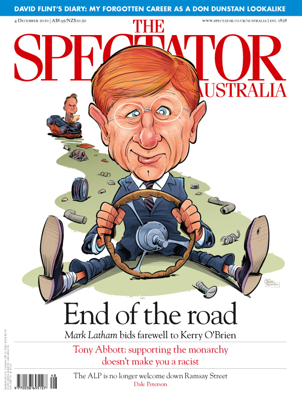 Kerry O'Brien published art for The Spectator by Anton Emdin