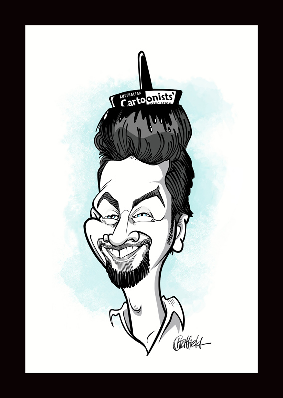 Anton Emdin caricature by Jason Chatfield