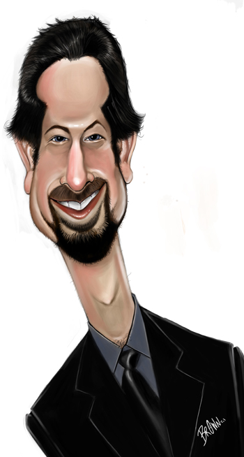 Anton Emdin caricature by Grant Brown