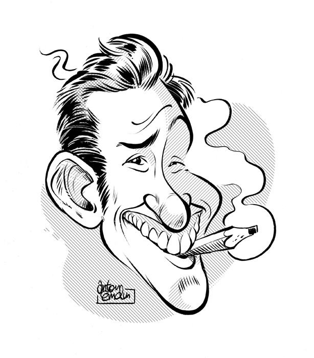 Jason Chatfield caricature by Anton Emdin