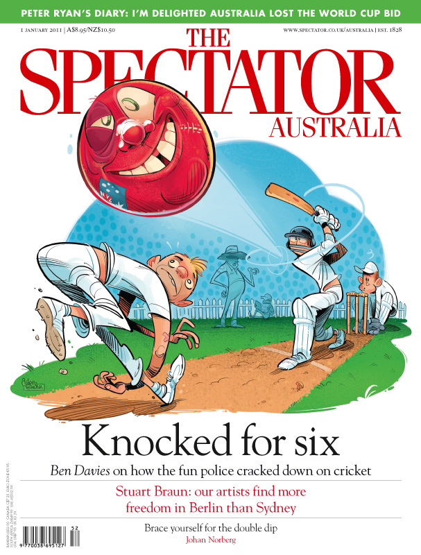 'Cricket Fan' Spectator cover art by Anton Emdin