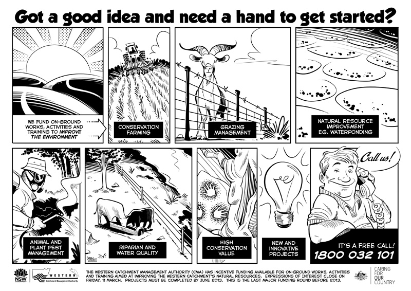 'Incentives' Comic Strip for the Western Catchment Management Authority