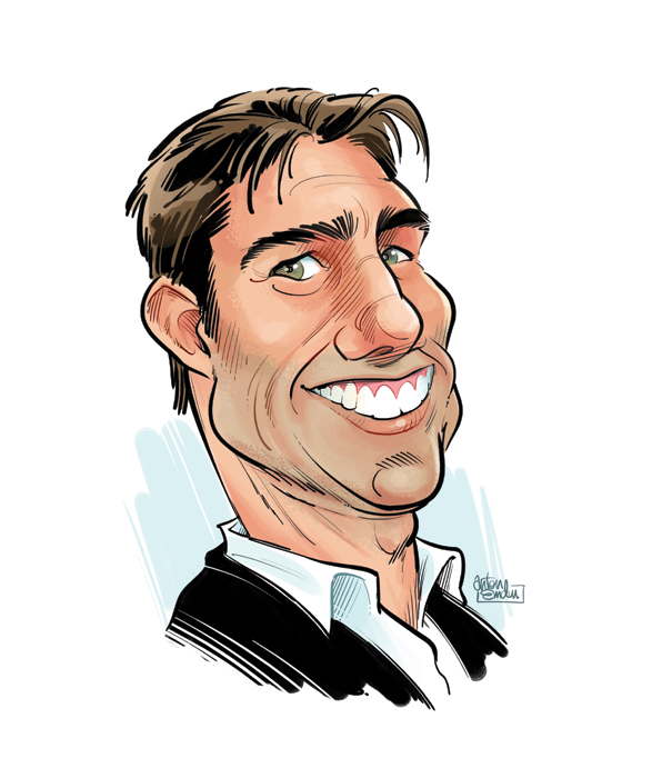 Tom Cruise portrait or caricature by Anton Emdin