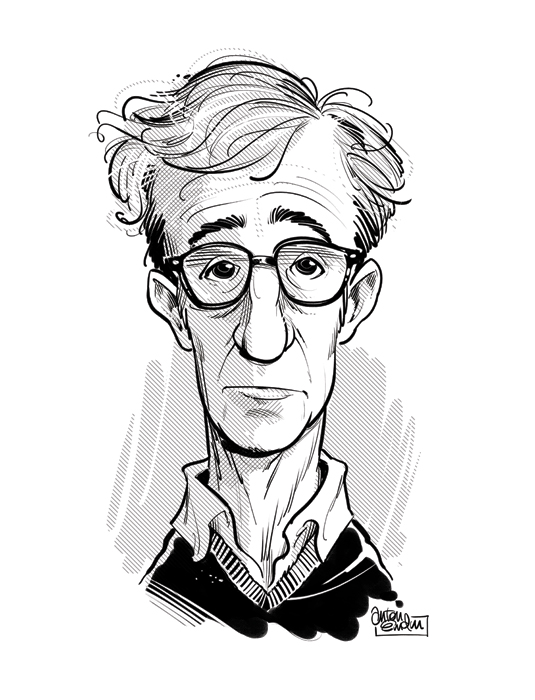 Woody Allen portrait / caricature by Anton Emdin