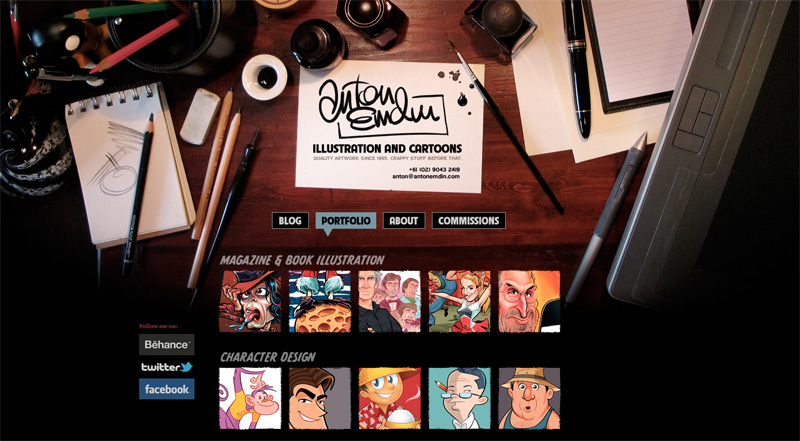 Anton Emdin Illustration and Cartoons website screenshot