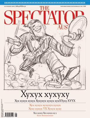 Rugby Union cover art for The Spectator Australia by Anton Emdin