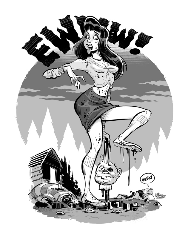 Ewww! pinup for Eeek! Comics by Anton Emdin