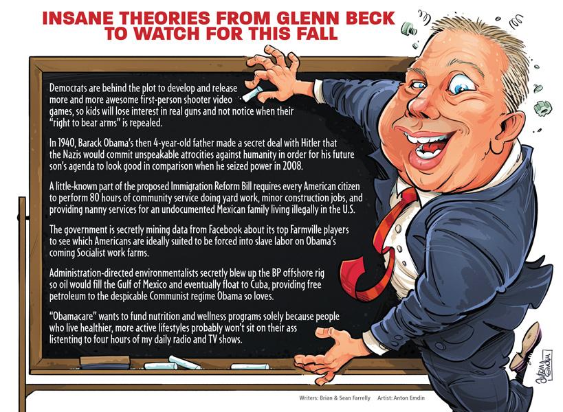 Glenn Beck illustration for US MAD by Anton Emdin