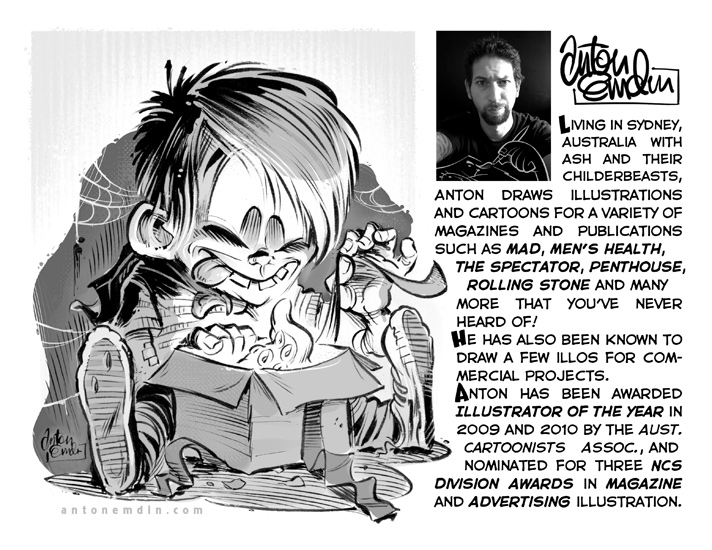 Anton Emdin's biography for the National Cartoonists Society