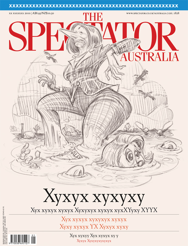 Quicksand cover art © Anton Emdin for The Spectator Australia
