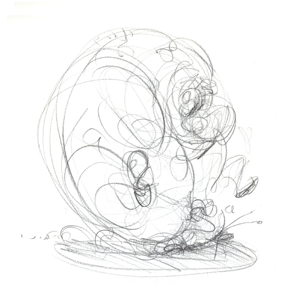 Snail Rider rough sketch © Anton Emdin