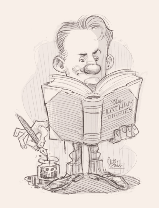 Sketch for Mark Latham illustration for The Spectator © Anton Emdin 2011