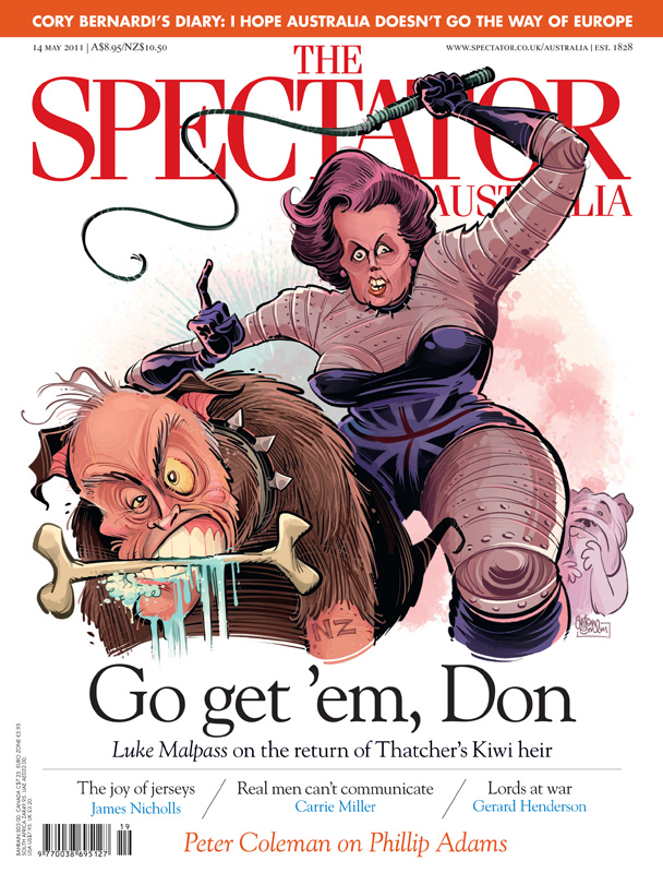 Brash Thatcher cover art for The Spectator Australia © Anton Emdin 2011