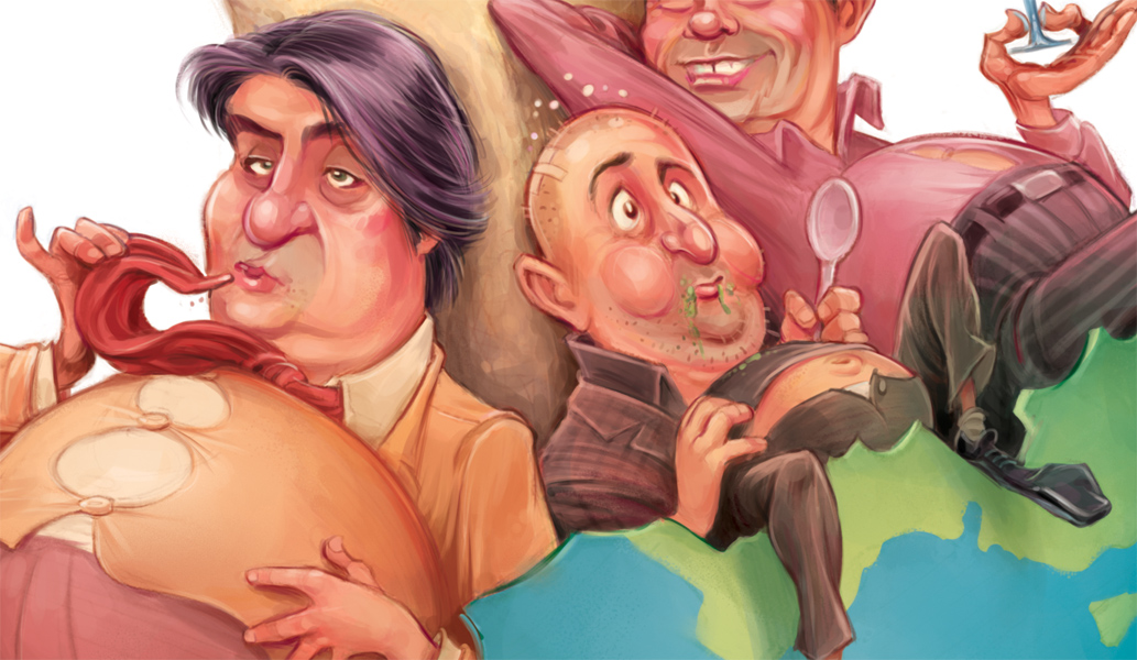 Masterchef cover art (detail) for The Spectator Australia © Anton Emdin 2011