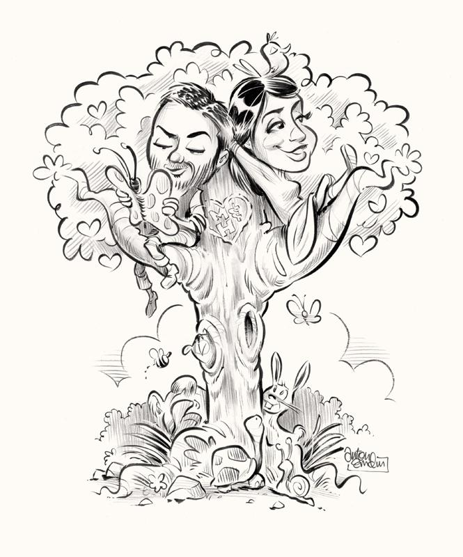 Megan and Henry illustration © Anton Emdin 2011